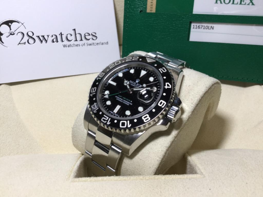 【28watches】二手 Rolex GMT-Master II 116710LN. 名牌. 錶 - Carousell