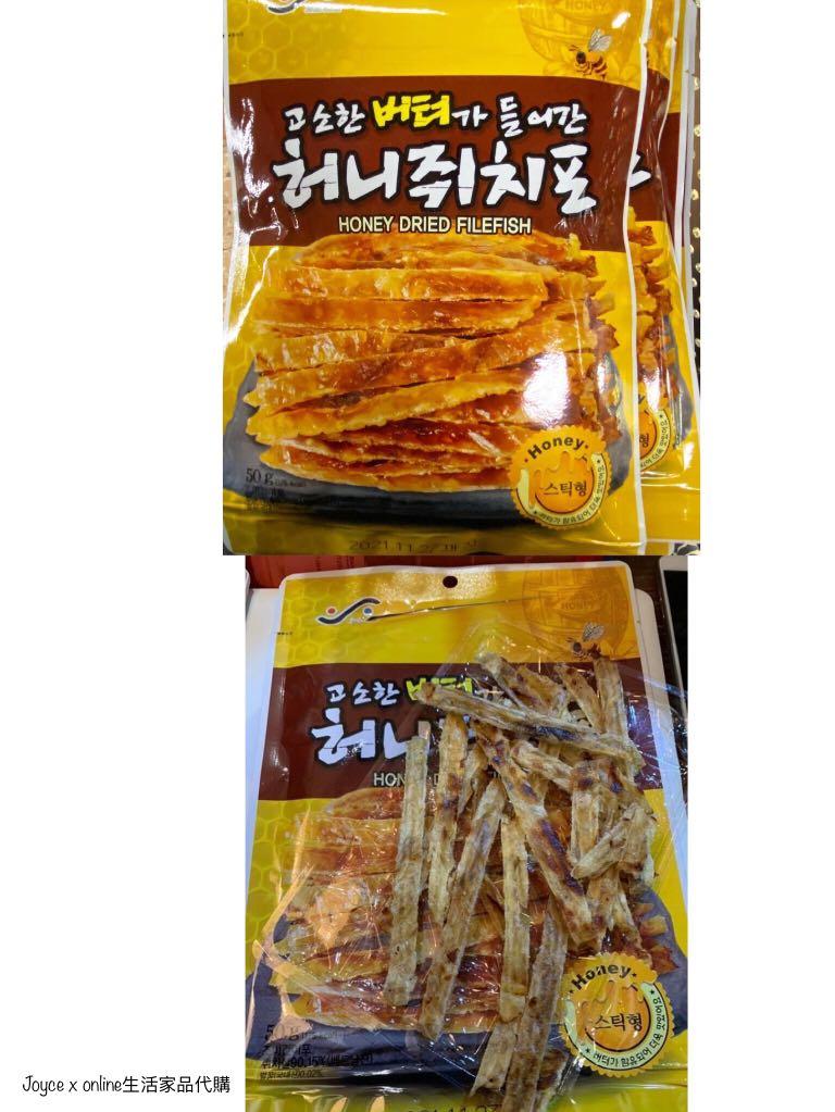 韓國 蜜糖 雞泡魚乾, 嘢食 & 嘢飲, 包裝食品 - Carousell