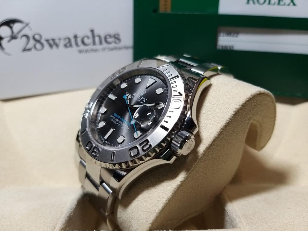 【28watches】二手 Rolex Yacht-Master 40 116622「停產」. 名牌. 錶 - Carousell