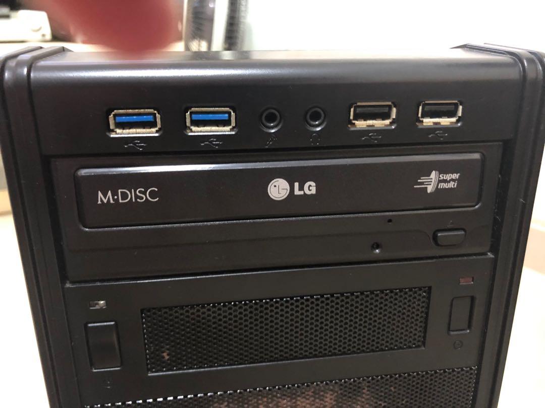 LG DVD 機 電腦 PC 送SATA線同matx機箱 (圖中個U板100蚊唔包), 電腦 & 平板電腦 - Carousell