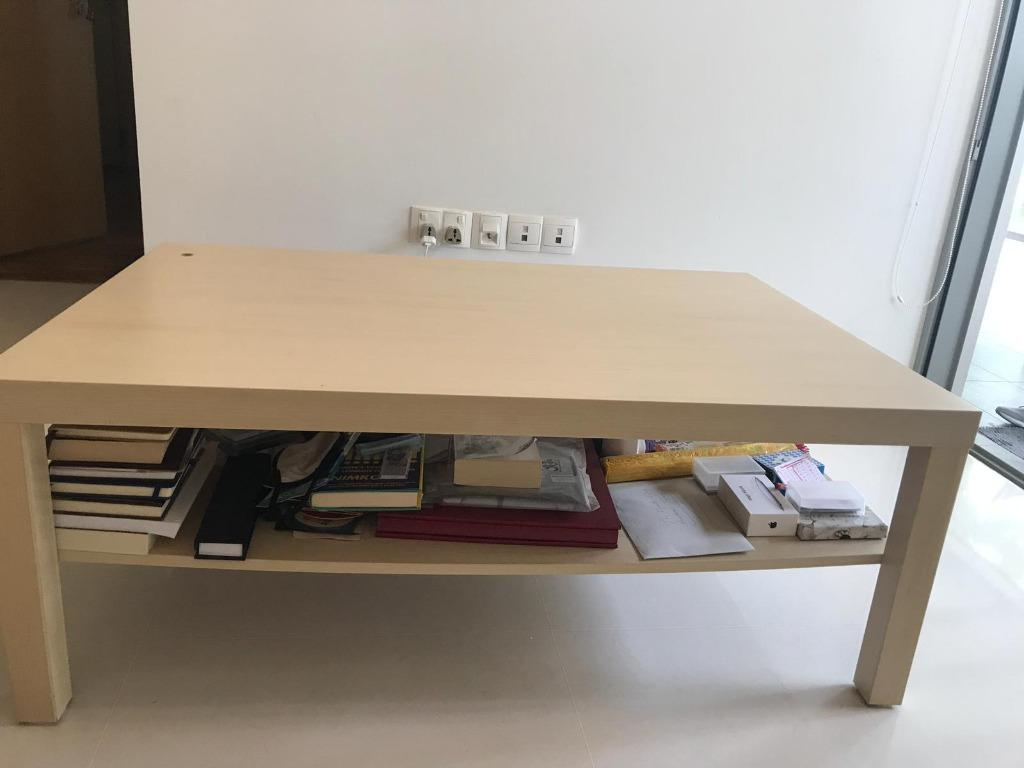 coffee table lack ikea white stained oak effect