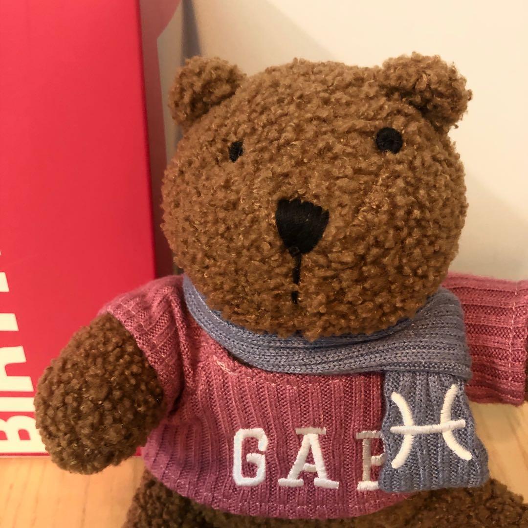 Gap 生日星座熊, 玩具 & 遊戲類, 毛公仔 - Carousell