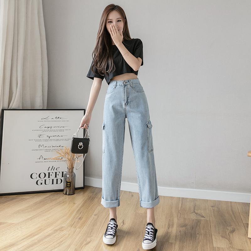 闊腿牛仔褲女夏季輕薄款高腰垂感寬松2020年新款顯瘦冰絲直筒褲子. 女裝. 女裝褲&半截裙 - Carousell