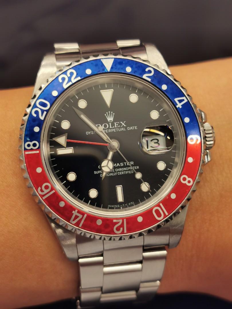 勞力士ROLEX 16700 GMT Master T25. 名牌. 錶 - Carousell