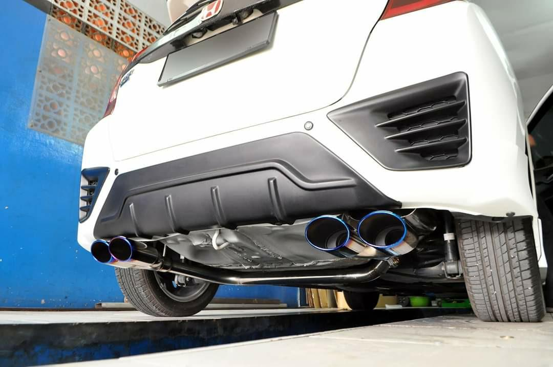 noblesse dual exhaust for honda fit
