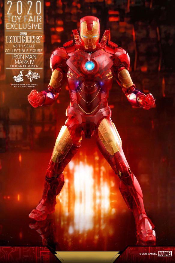 《鐵甲奇俠2》鐵甲奇俠 Ironman Mark IV (仿全息影像版) 1:6比例珍藏人偶, 玩具 & 遊戲類, 玩具 - Carousell