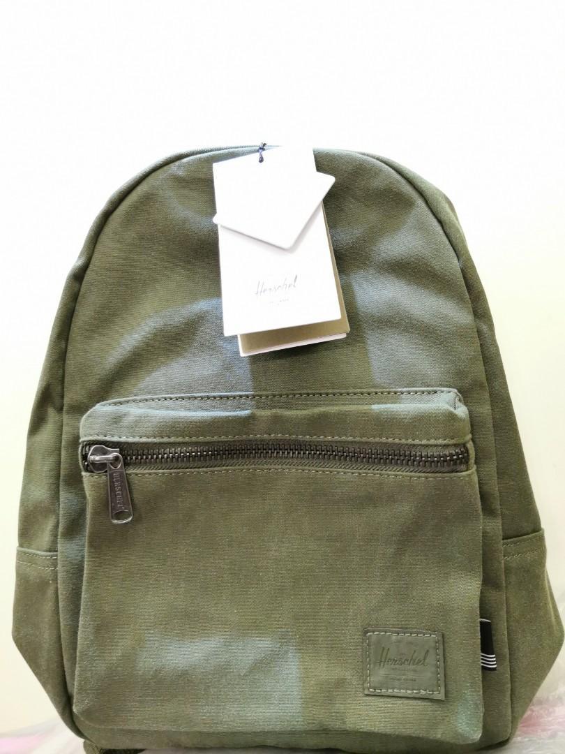 全新 Herschel Grove X - Small Backpack 背囊 後背包 墨綠色, 名牌, 袋 & 銀包 - Carousell