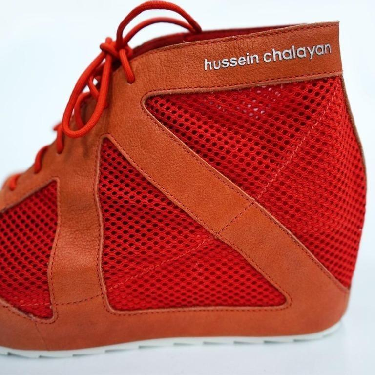 Puma x Hussein Chalayan red shoes, 女裝, 女裝鞋 - Carousell