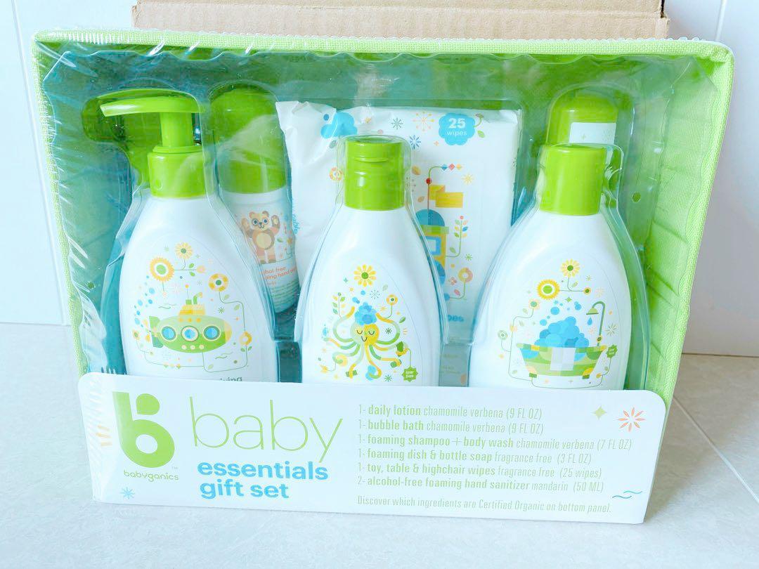 全新 babyganics essentials gift set 嬰兒用品禮品套裝 送禮自用 清潔 消毒, 兒童&孕婦用品, 其他 - Carousell