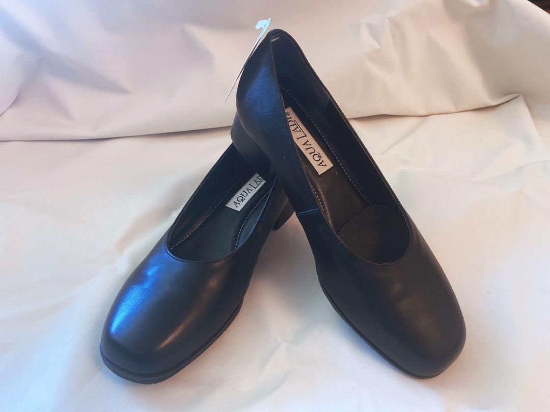 全新日本Aqua lady 黑色氣墊返工鞋4cm 高 size US 7.5/8, 女裝, 女裝鞋 - Carousell
