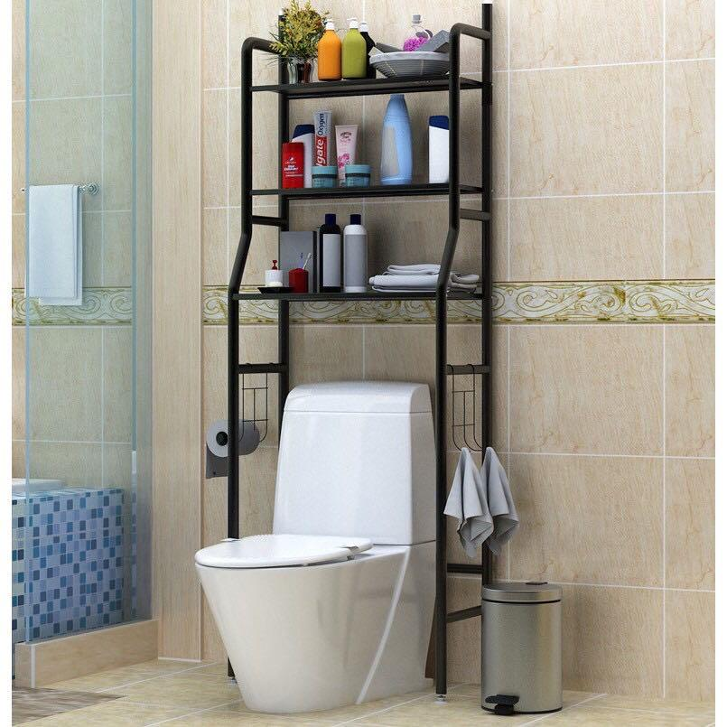 Toilet Rack Laundry Storage Bathroom Organization Corner Valet Cleaning Roll Shelf Organizer Stand Pole Holder Cabinet Furniture Others On Carousell