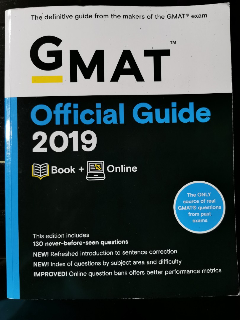 Gmat Official Guide 2019 Book Online Question Bank Books Stationery Magazines Others On Carousell