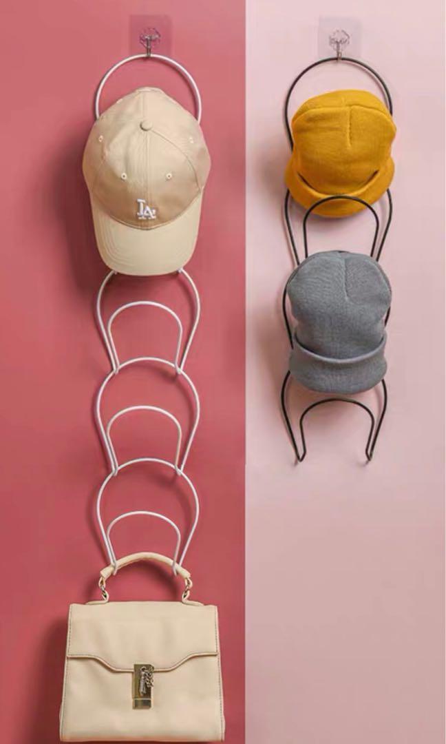 掛帽子收納架 黑/白色, 傢俬&家居, 其他 - Carousell
