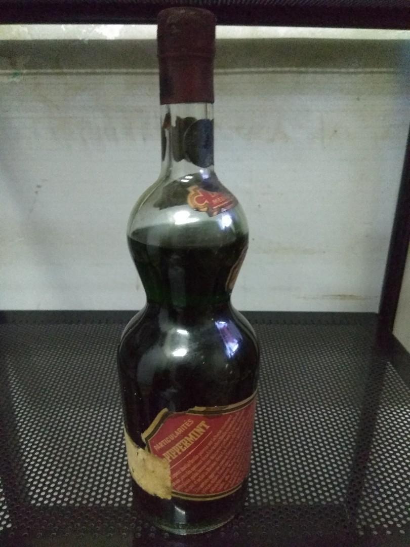 中古70年代700ml葫蘆樽薄荷酒, 古董收藏, 其他 - Carousell