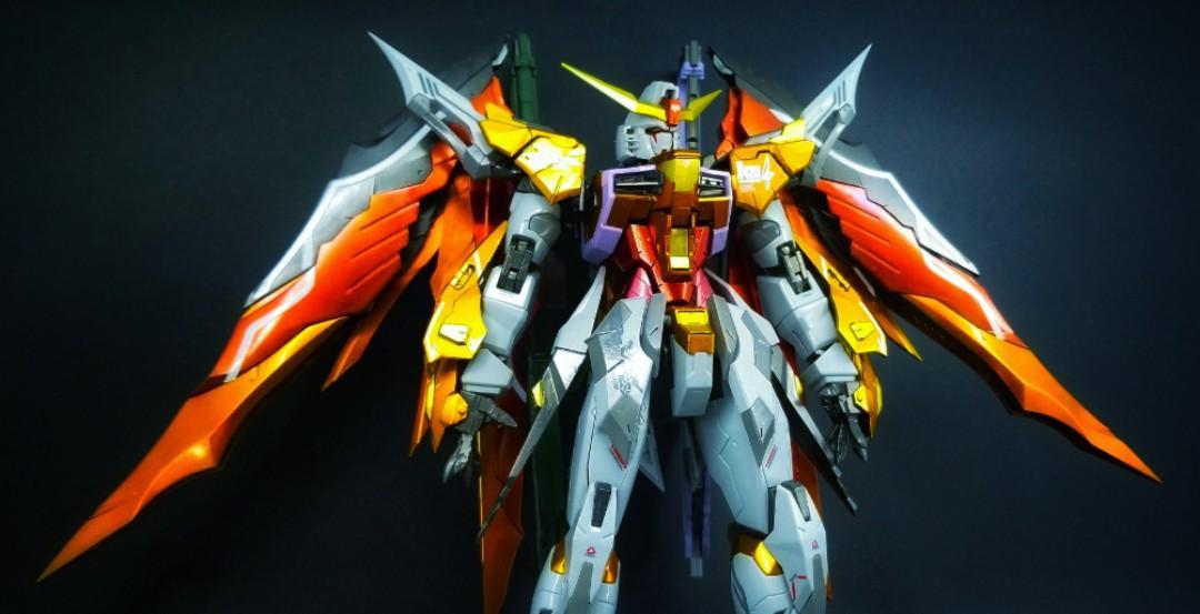 (完成品)絕版龍桃子MG 1/100 命運高達 ZGMF-X42S Destiny 海湼金屬配色 seed PG MG RG HG MIA EMIA GFF MB Metal Build Robot魂 ...