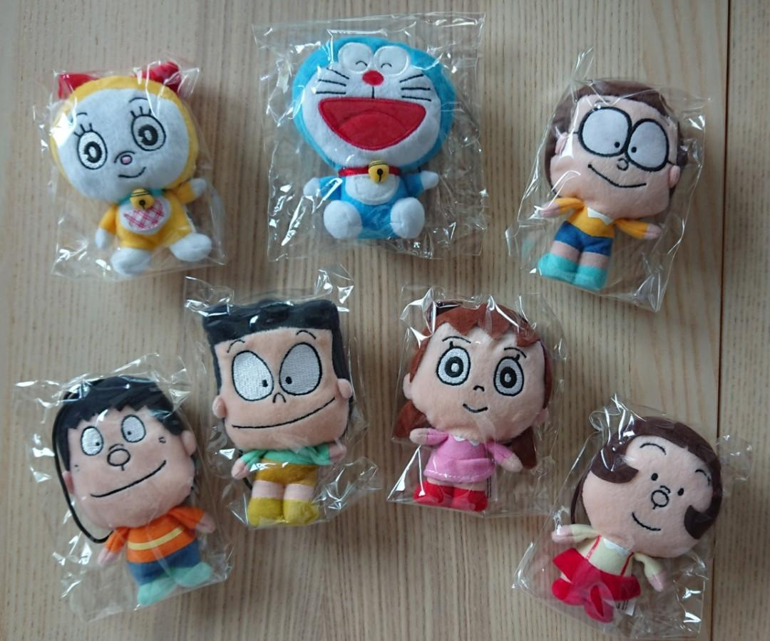 7-11 Doraemon & friends 多啦A夢叮噹 多啦美 大雄 胖虎 小夫 靜香 胖妹 公仔一套(共7隻). 玩具 & 遊戲類. 玩具 - Carousell