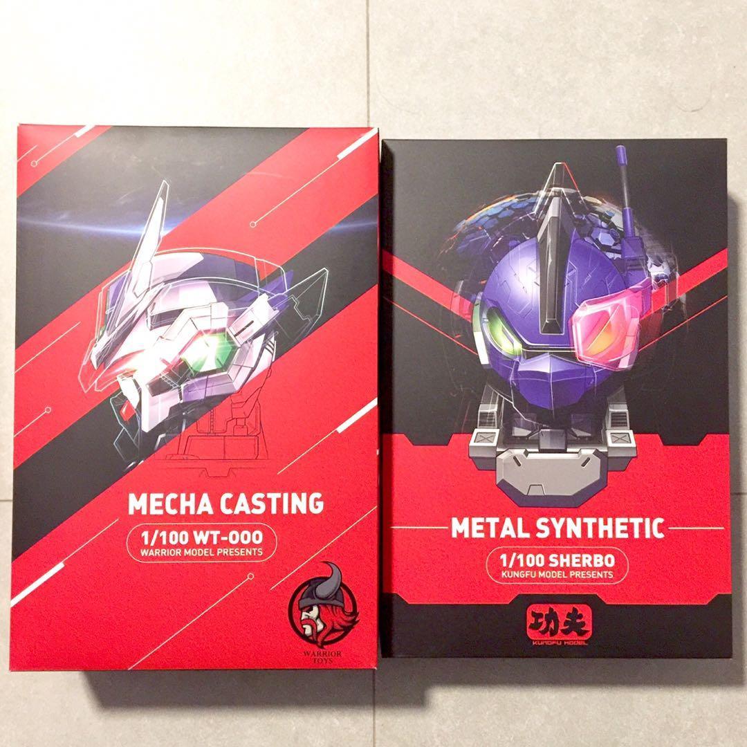 已開 MoShow 00q Gundam 00 Qan[T] Qant Qan(t) 1/100 Mo Show KungFu Sherbo Warrior WT-100 Metal Synthetic Casting 國產高達合金 MB式樣 ...