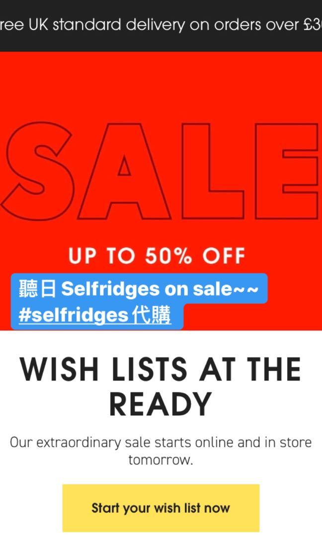 英國百貨公司Selfridges代購, 預購 - Carousell