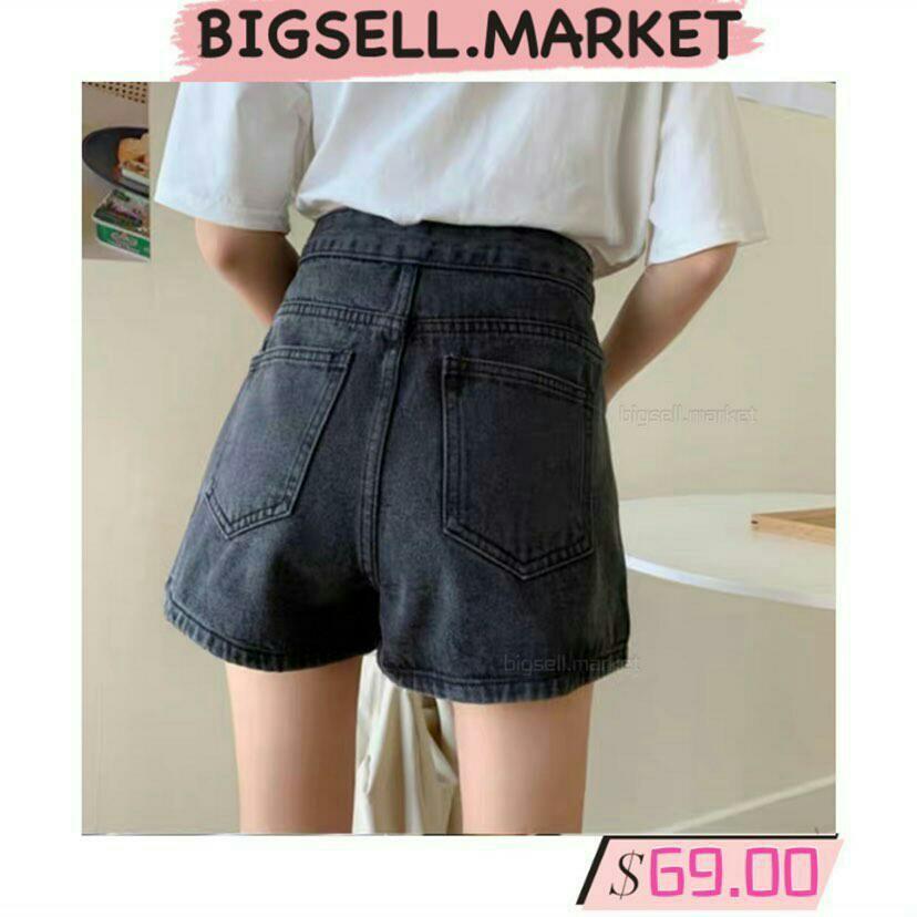 高腰顯瘦闊腳牛仔直筒短褲, 女裝, 女裝褲&半截裙 - Carousell