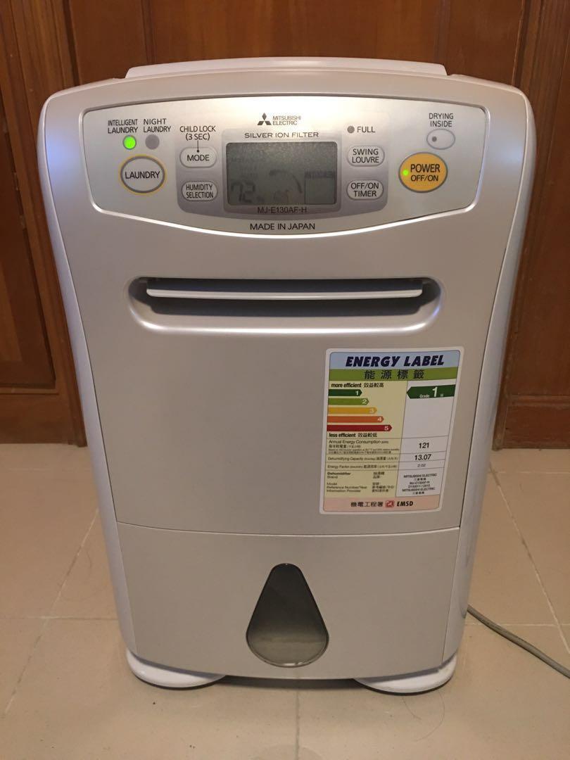 三菱抽濕機 MJ-E130AF-H 行貨Dehumidifier 22.5 公升,3L水箱可連續排水 水箱3公升 3D立體送風 W360xH534xD210mm3D立體送風,請謹慎考慮後購買,估計衣物乾燥時間並自動停止運轉。 銀離子濾網 銀離子濾網可阻隔花粉和灰塵。在正常情況下, 其他 - Carousell