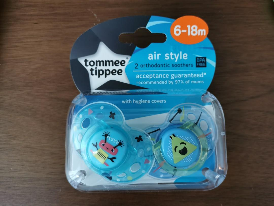 Tommee tippee soothers 6-18m 奶咀. 兒童&孕婦用品. 餵養產品 & 奶粉 - Carousell