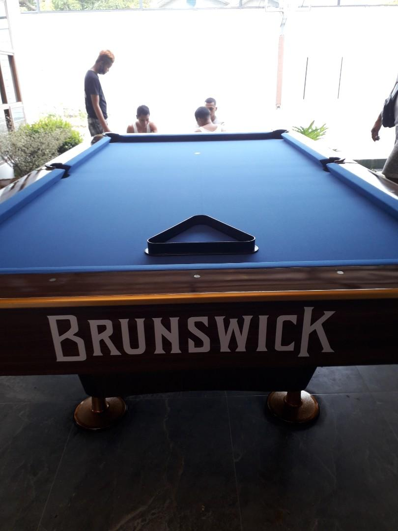 Game Bilyar : bilyar, Granite, Slate, Brunswick, Standard, Billiard, Table,, Sports, Equipment,, Games,, Billiards, Bowling, Carousell