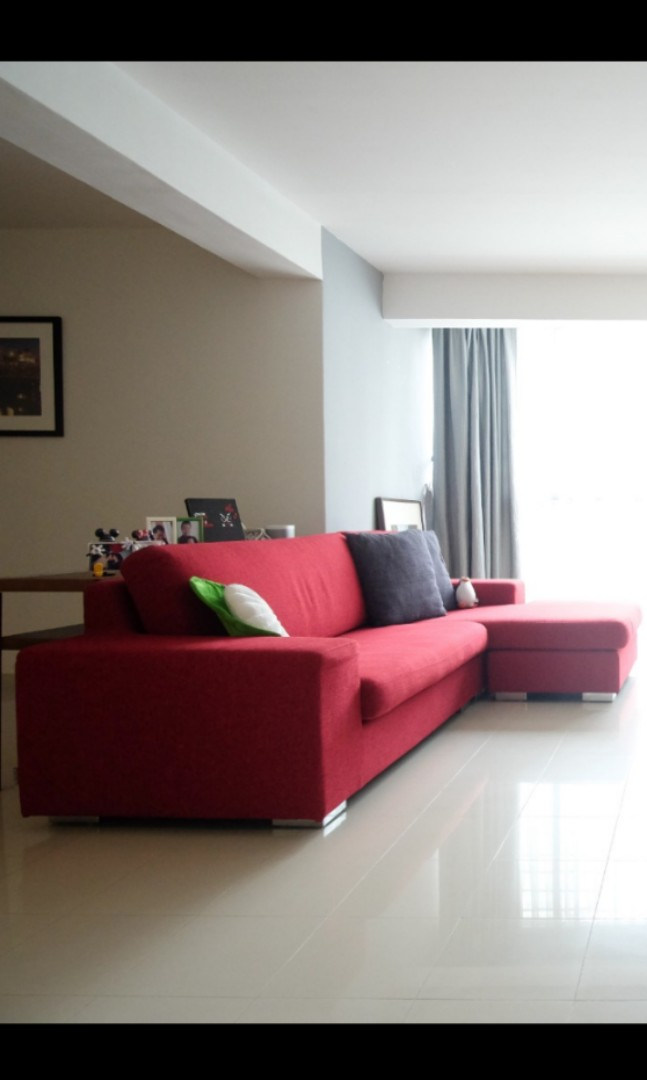 Red Sofa Furniture Home Living Furniture Sofas On Carousell