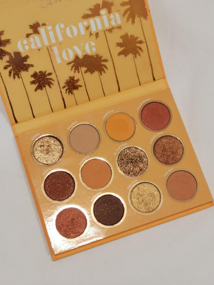 California Love Eyeshadow Palette : california, eyeshadow, palette, Colourpop, California, Eyeshadow, Palette,, Health, Beauty,, Makeup, Carousell