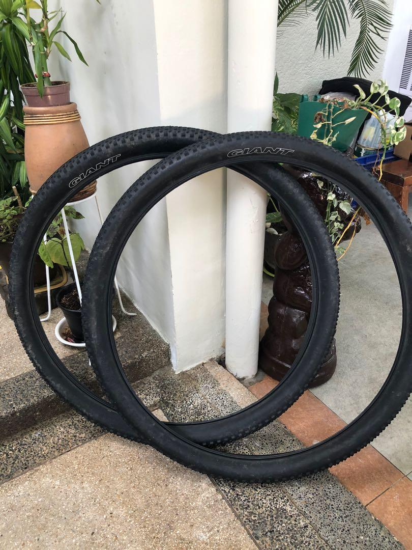 Giant Tires For Sale : giant, tires, Giant, Tires, 27.5,, Sports, Equipment,, Bicycles,, Bicycles, Carousell