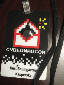 Cyberwarcon badge