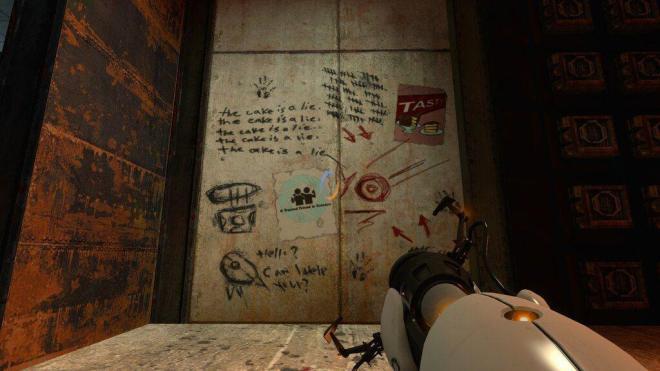Portal 2: The cake is a lie.