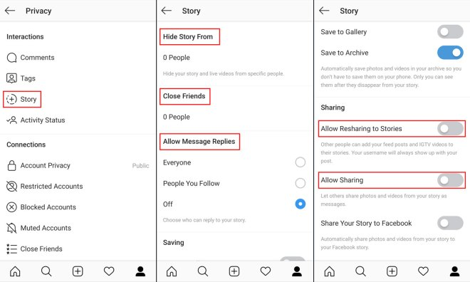 How to configure who can see your Instagram stories