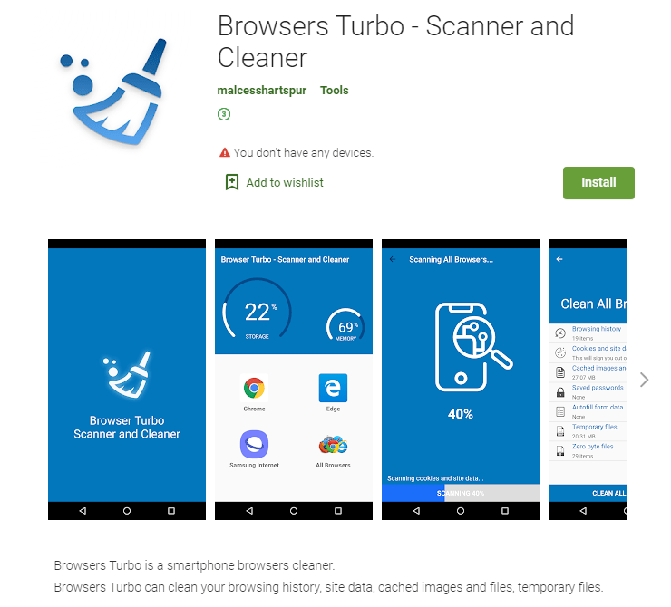 An app on Google Play found to contain the PhantomLance backdoor