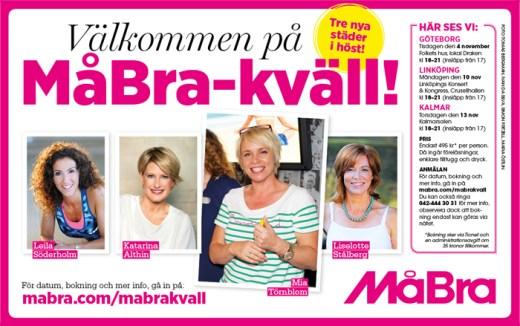 Läs mer och boka din biljett på mabra.com/mabrakvall