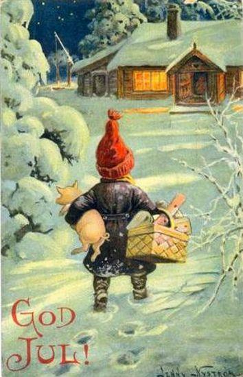 Jag låter Jenny Nyströms vackra julkort vara min julhälsning till dig!