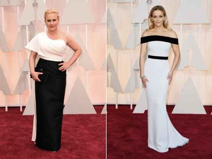 Svartvita klänningar på Oscarsgalans röda matta.