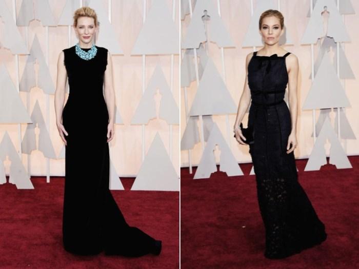 Svarta klänningar på Oscarsgalans röda matta.