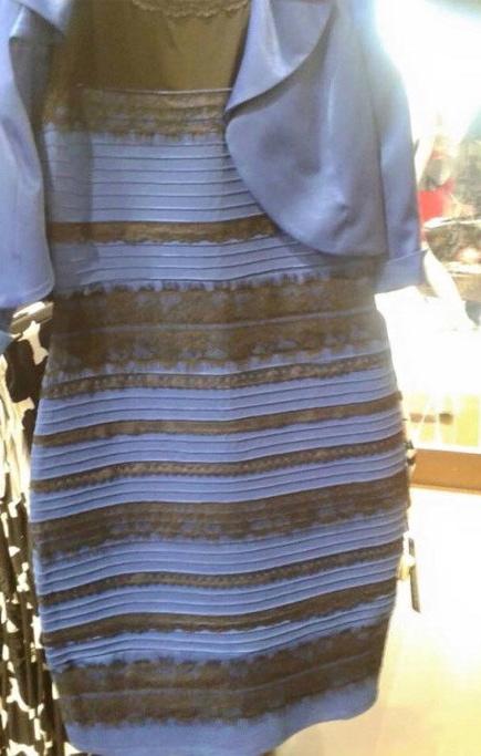Klänningen som blev snackis på internet. Vilken färg ser du?