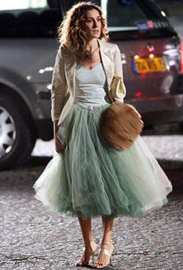 Här är Sarah Jessica Parker som Carrie i Sex and the City iklädd tyllkjolen som fick mitt hjärta att klappa lite extra.