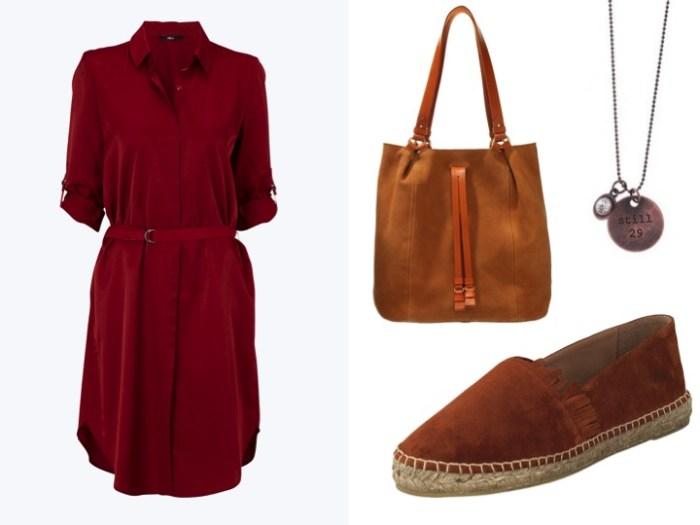 Så matchar du sommarens snygga röda skjortklänning!