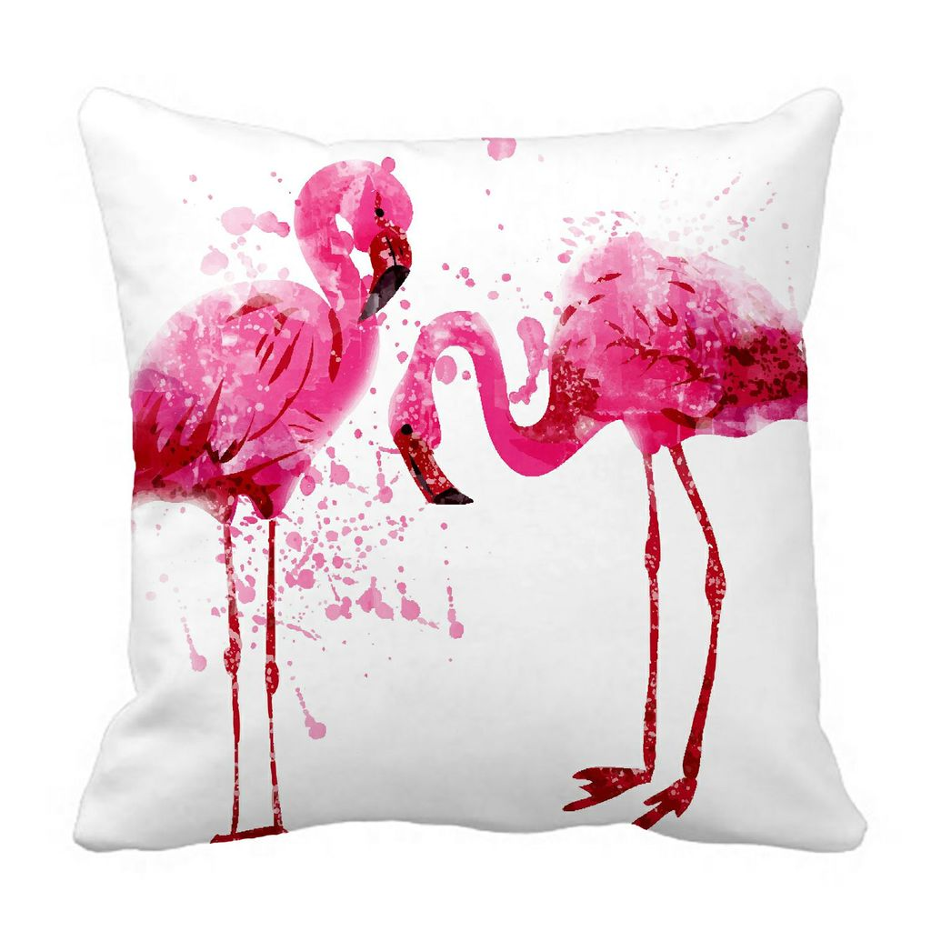 abphqto pink flamingo splashes pillow case pillow cover pillow protector two sides for couch bed 45x45 cm