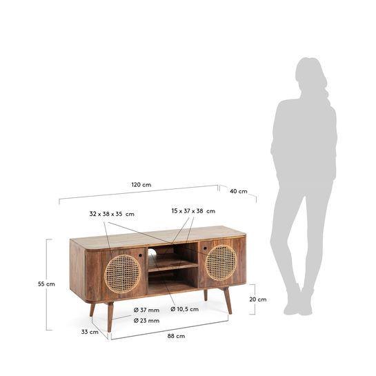 meuble tv geraldine 120 x 55 cm kave home