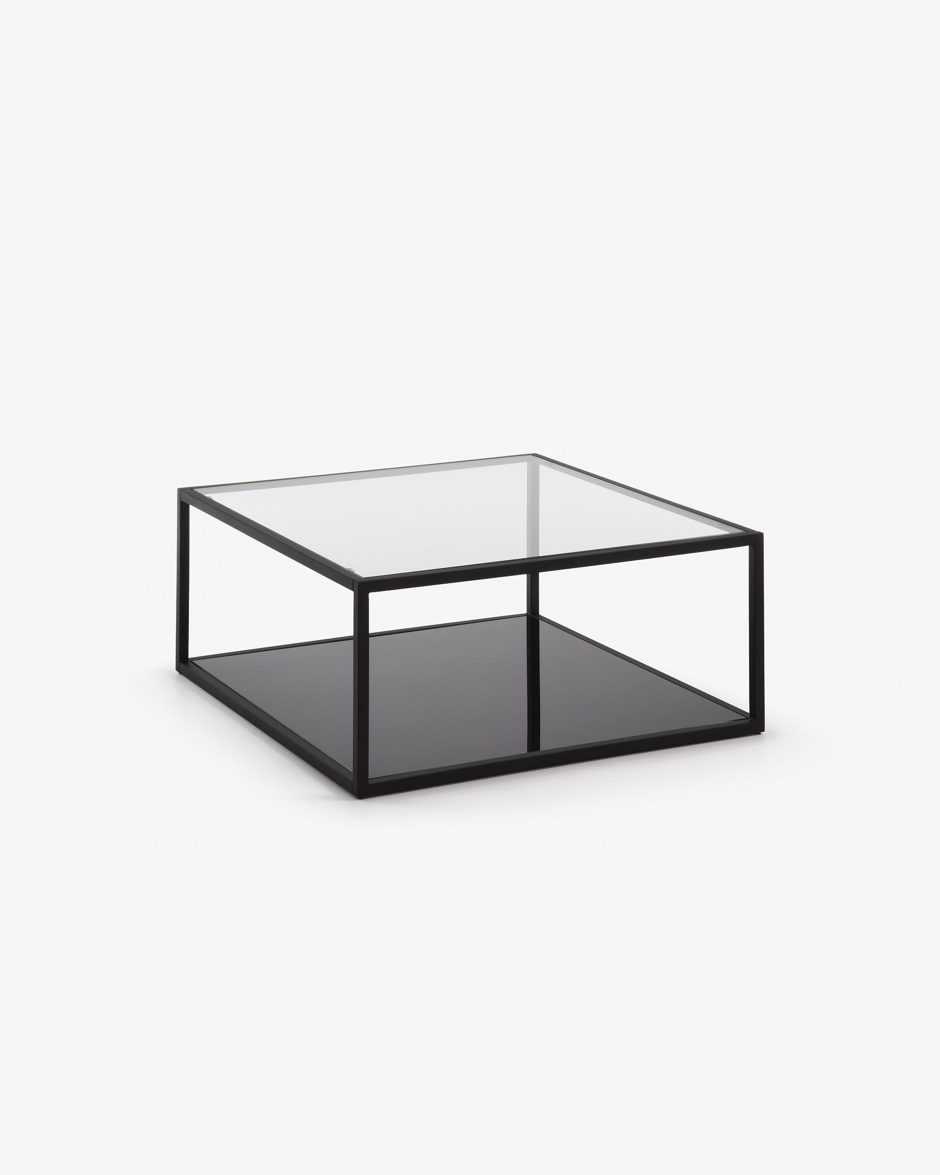 blackhill black square coffee table 80