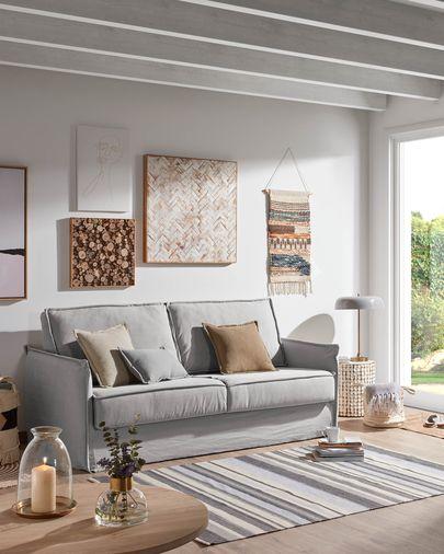 Adaptar tu casa a tus invitados con un sofá cama Samsa 160 cm visco gris