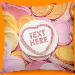 Faux Suede Sofa Cover Pottery Barn Carlisle Slipcovered Reviews Candy Sweet Hearts Personalised Funky Cushion 45x45cm