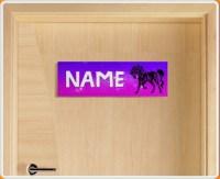 Tribal Horse Personalised Name Children's Bedroom Door Sign