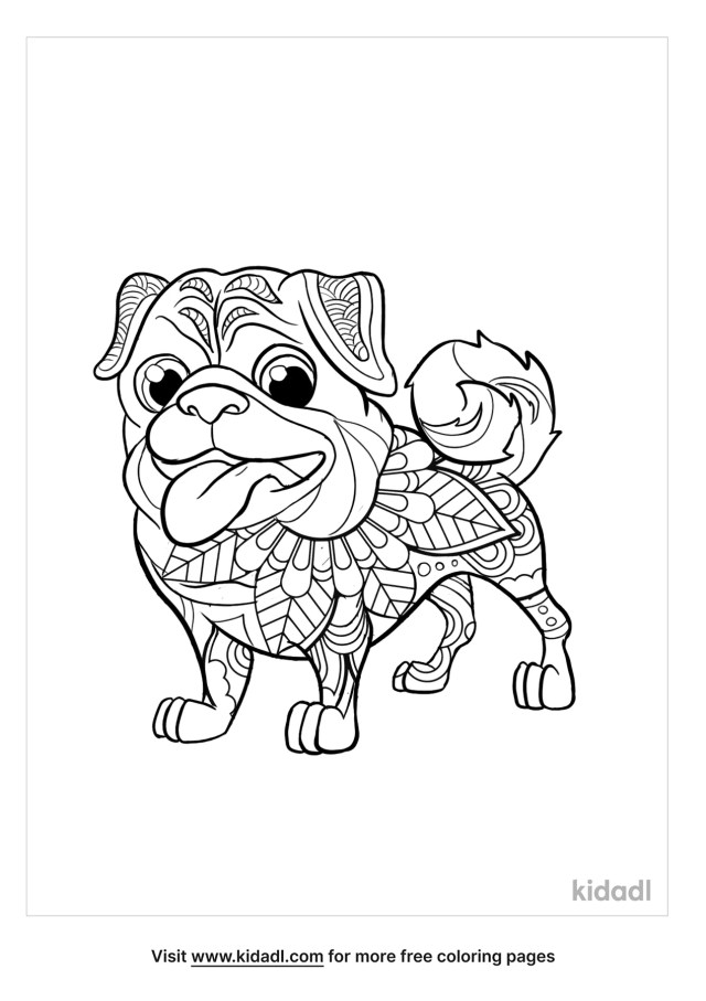 Abstract Pug Coloring Pages  Free Animals Coloring Pages  Kidadl