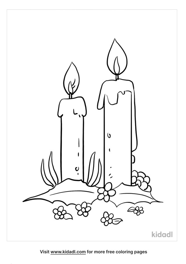 Advent Wreath Coloring Pages  Free Bible Coloring Pages  Kidadl
