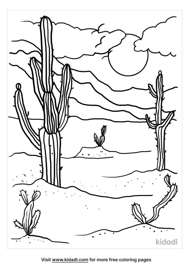 Arizona Coloring Pages  Free Desert Coloring Pages  Kidadl