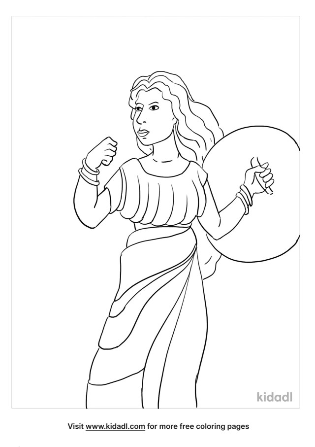 Athena Coloring Pages  Free People Coloring Pages  Kidadl
